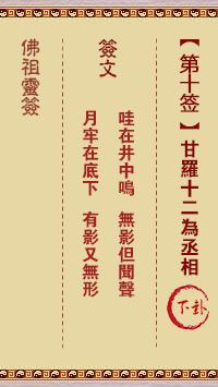 佛祖灵签 第10签:甘罗十二为丞相 中下签