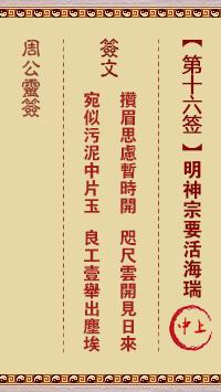 周公灵签 第16签:明神宗要活海瑞