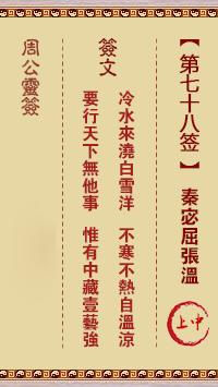周公灵签 第78签:秦宓屈张温